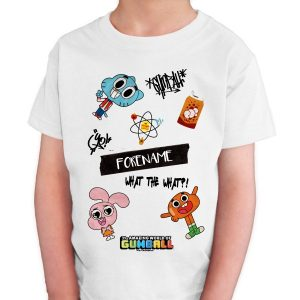 Personalised Amazing World of Gumball T-shirt
