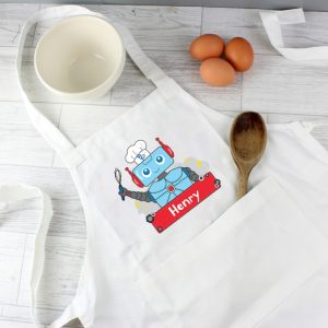 Personalised Children's Robot Apron