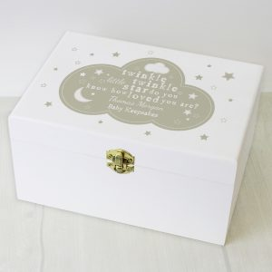 Personalised Twinkle Twinkle Keepsake Box