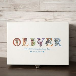 Personalised Deluxe Wooden Keepsake Box - Boys
