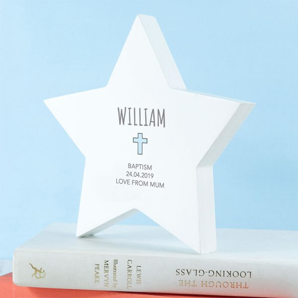 Personalised Star Keepsake - Blue Cross