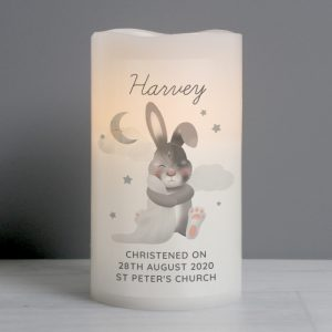 Personalised Baby Bunny LED Candle Nightlight