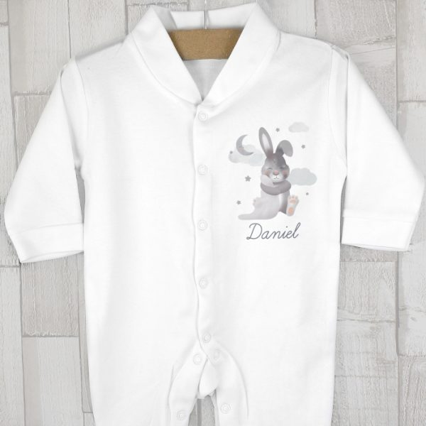 Personalised Newborn Easter Bunny Baby Grow