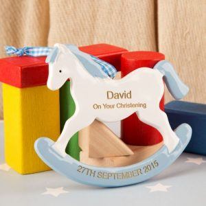 Rocking Horse Ornament Blue