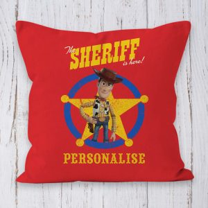 Toy Story 4 Personalised Cushion - Woody Sheriff