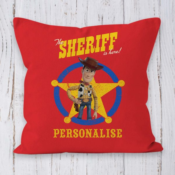 Toy Story 4 Personalised Cushion - Woody Sheriff