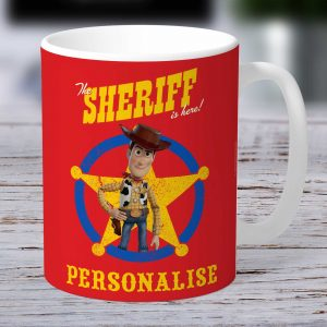 Toy Story 4 Personalised Mug - Woody Sheriff