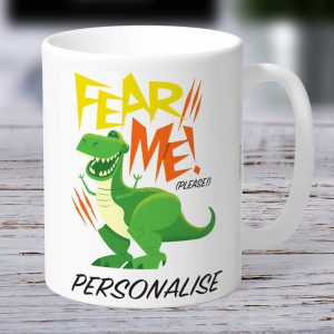 Toy Story 4 Rex Personalised Mug - Fear Me