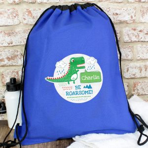 Personalised Dinosaur Kit Bag