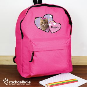 Personalised Cat School Bag
