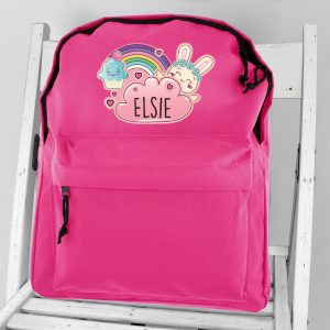 Personalised Cute Bunny School Backpack