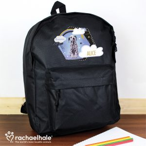 Personalised Dalmation School Bag Backpack