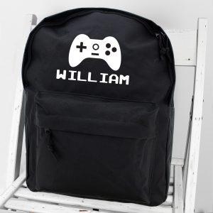 Personalised Gaming Backpack School Bag