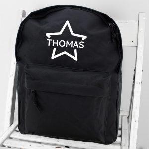 Personalised Star Backpack School Bag