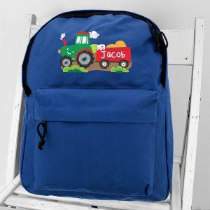 Personalised Tractor School Bag