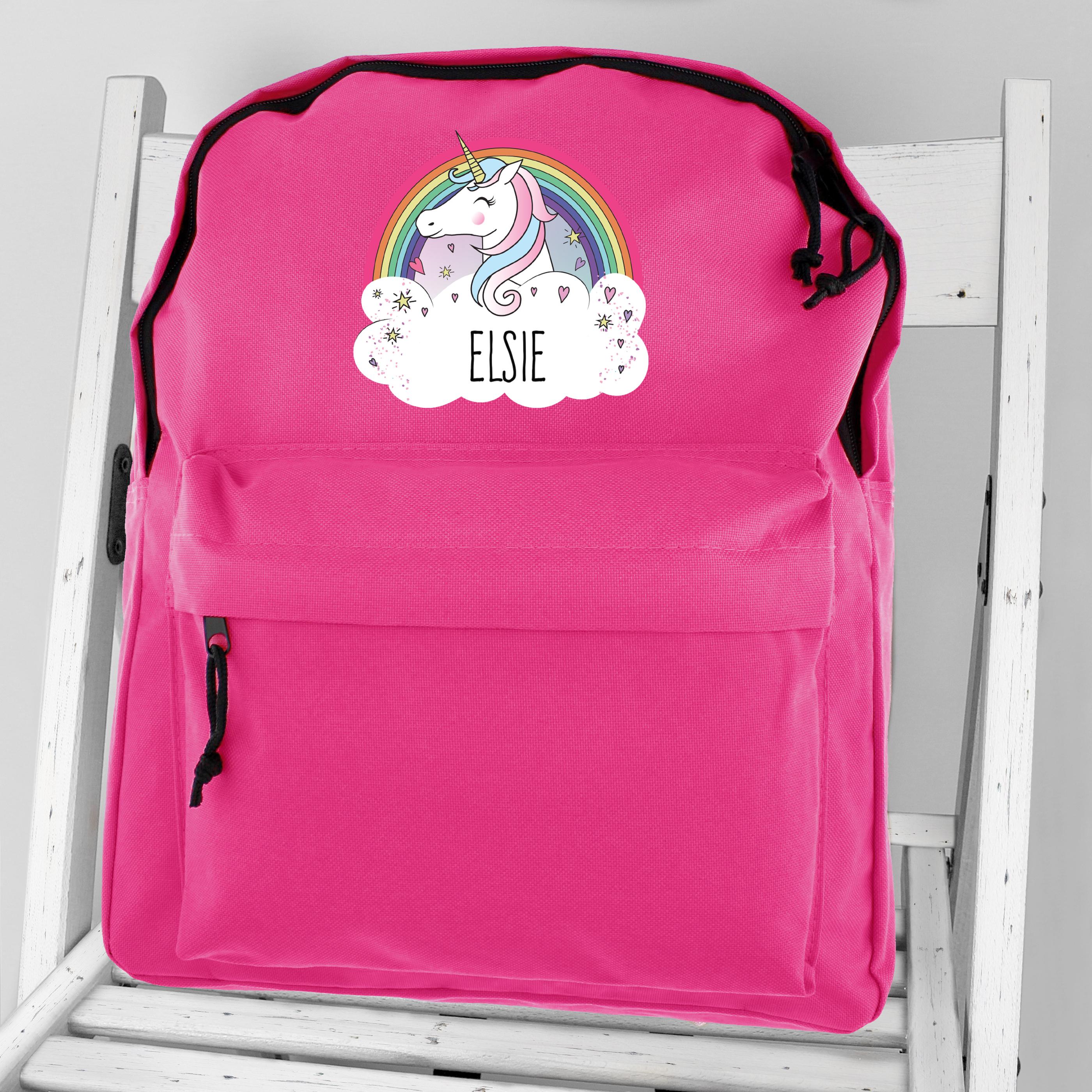 Personalised Unicorn Backpack School Bag