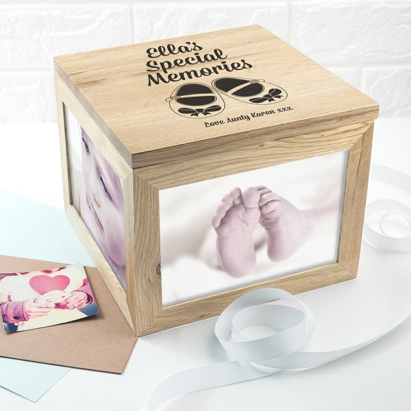Baby Girl Personalised Keepsake Box