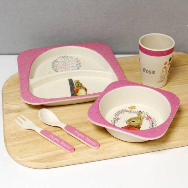 Flopsy Bamboo Personalised Breakfast Set