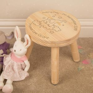 Personalised Wooden Stool Elephant Design