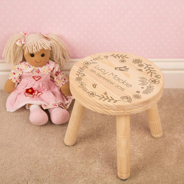 Children's Personalised Wooden Stool