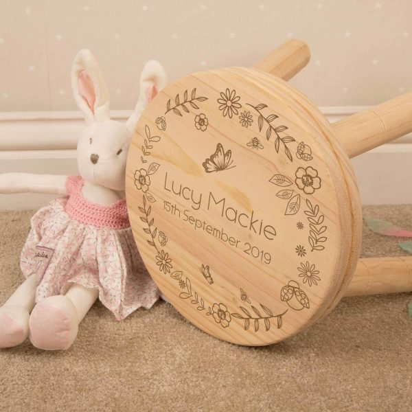 Personalised Girl's Wooden Stool