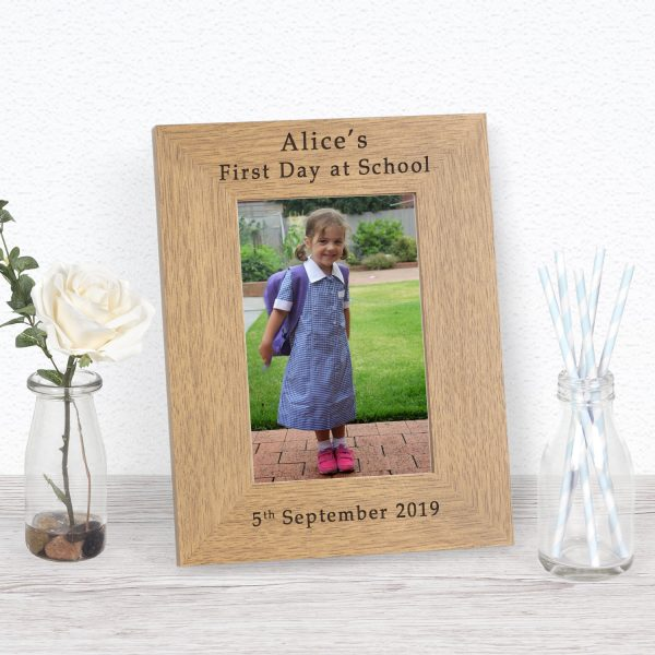 Personalised First Day at School Photo Frame