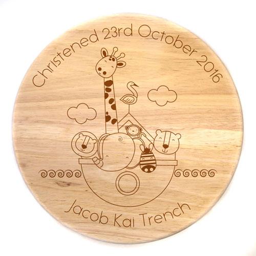 Personalised Wooden Stool - Noah's Ark