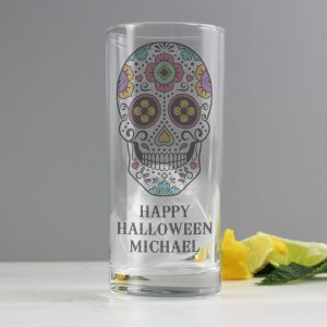 Personalised Sugar Skull Glass