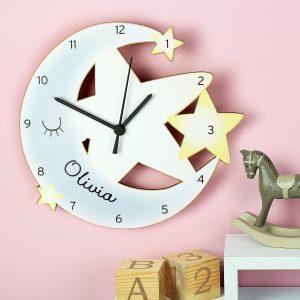 Personalised Moon & Stars Clock