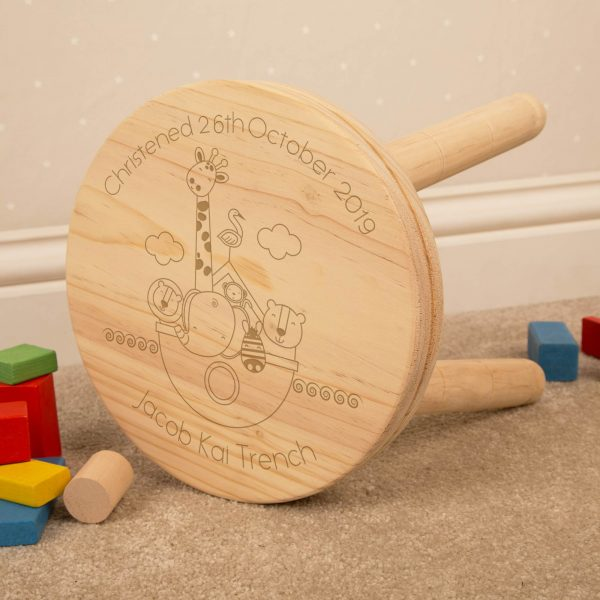 Boys Personalised Wooden Stool