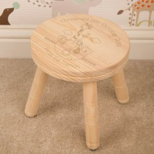 Noah's Ark Personalised Wooden Stool