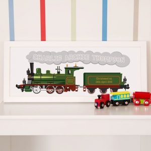 Personalised Steam Train Framed Print