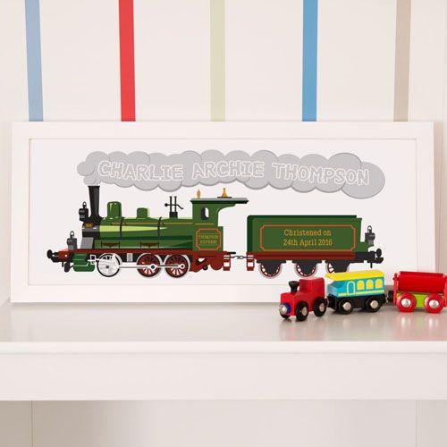 Personalised Steam Train Framed Print