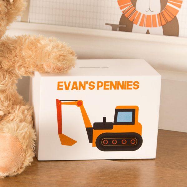 Digger Personalised Money Box
