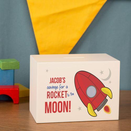 Rocket Personalised Money Box