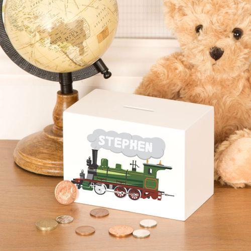 Personalised Steam Train Money Box