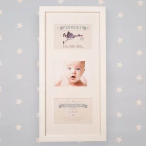 New Baby Illustrated Wall Frame: Stork Portrait