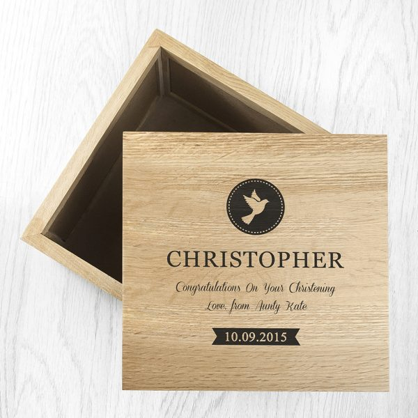 Personalised Christening Photo Keepsake Box