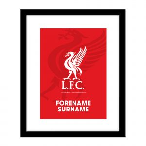 Personalised Liverpool F.C. Framed Print