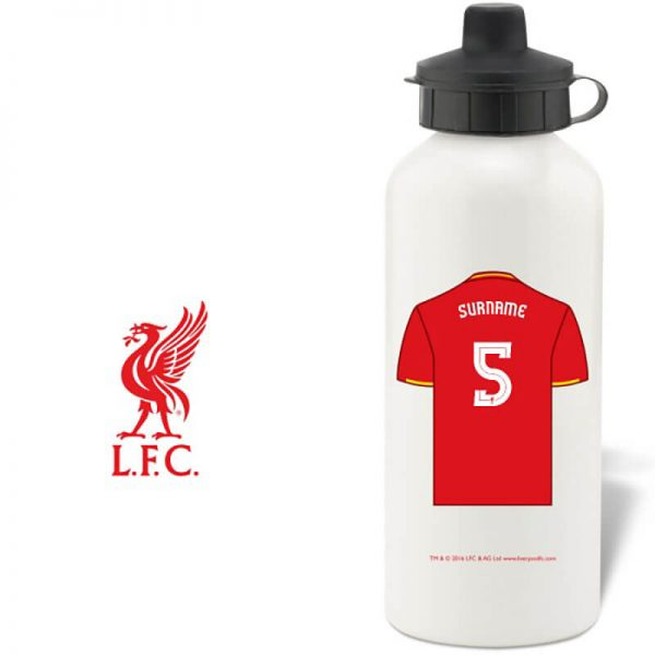 Liverpool F.C. Personalised Water Bottle (White)