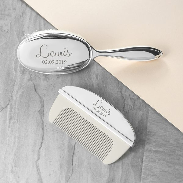 Personalised Baby Brush & Comb Set