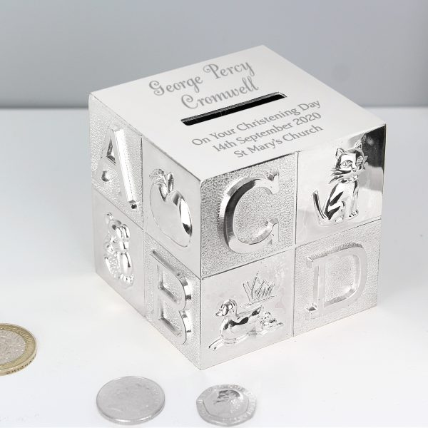 Personalised New Baby Christening Money Box
