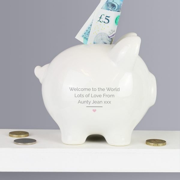 Personalised 1st Money Box Girl