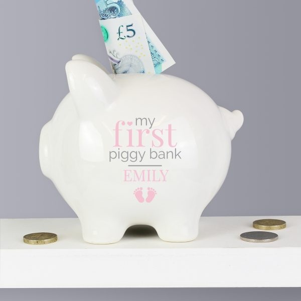 Personalised 1st Piggy Bank