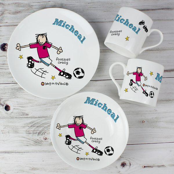 Personalised Football Crazy Breakfast Set