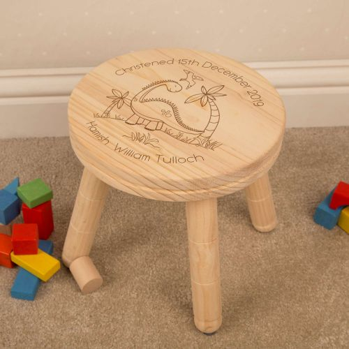 dinosaur personalised stool