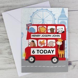 London Bus Animal Card