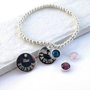 Personalised Birthstone Charm Bracelet