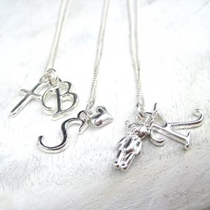 Personalised Girls Initial Charm Necklace
