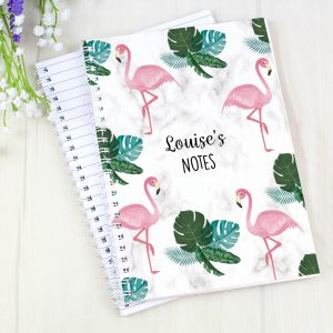 Personalised Flamingo Notebook